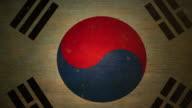 South Korean Flag - Grunge. 4K video