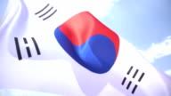 South Korean Flag video