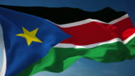 4K South Sudan Flag - Loopable video