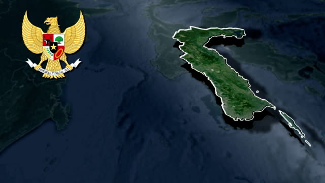 South Sulawesi with Coat Of Arms Animation Map video
