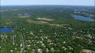 South Yarmouth And West Dennis  - Aerial View - Massachusetts,  Barnstable County,  United States video