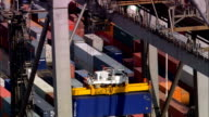 Southampton Container Port  - Aerial View - England, Hampshire, United Kingdom video