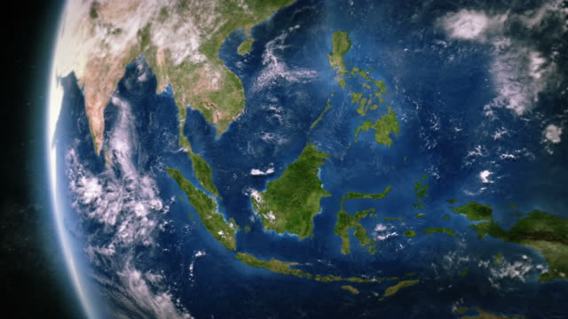 South-east Asia seen from space. video