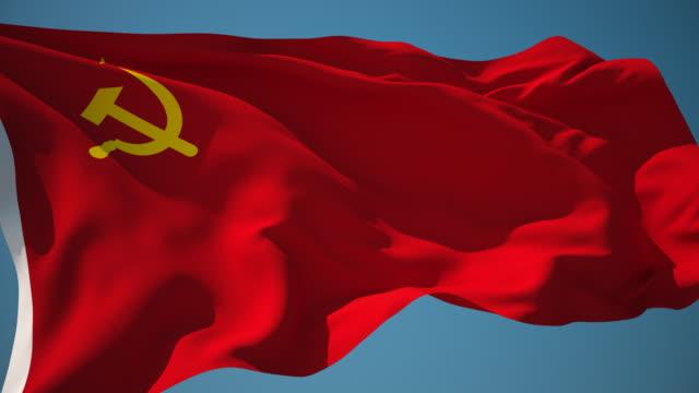 4K Soviet Union Flag - Loopable video