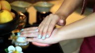 spa hand scrub video