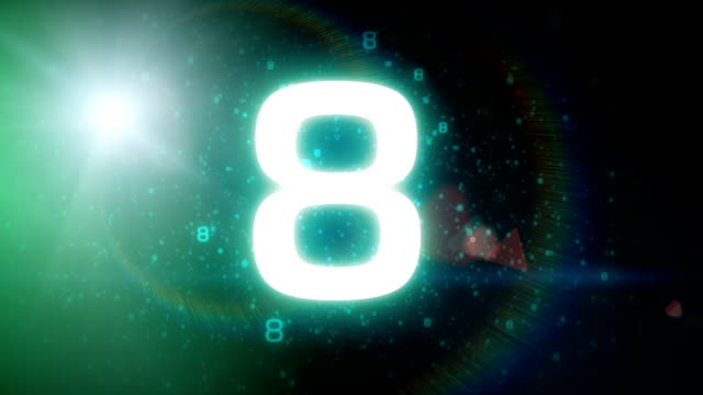 Space countdown video
