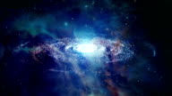 Space Galaxy Zoom In Motion Graphics. Full HD video