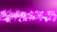 Space pink background particles animation video
