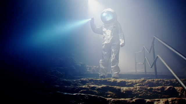 Space science fiction video