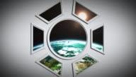 4K Space Ship video
