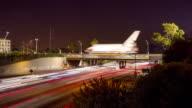 Space Shuttle Crosses Bridge video
