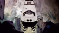 Space Shuttle Docks video