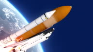 Space Shuttle Takes Off video
