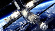 Space Station Orbiting Earth. video