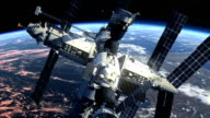 Space Station Orbiting Earth video