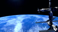 Space station orbiting the Earth. video