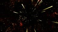 Space Travel Animation - Loop Orange video
