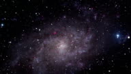 Space travel towards the M33 Galaxy video