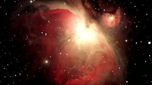 Space travel towards the Orion Nebula video