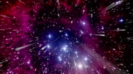 Space travel towards the Rosette Nebula video