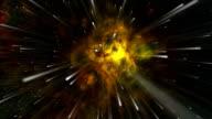 Space travel towards the Tarantula Nebula video