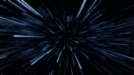 Space warp aka hyperspace. Sci-fi vfx animation. video