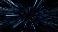Space warp aka hyperspace. Sci-fi vfx animation. video
