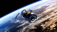 Spacecraft 'Progress' deploys solar panels. video