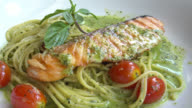 Spaghetti salmon video