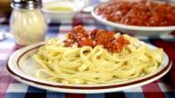 Spaghetti sauce video