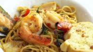 Spaghetti seafood video
