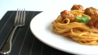 spaghetti with meat balls video