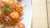 spaghetti with shrimp video