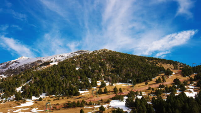 spain day light mountain ski resort 4k time lapse spain video
