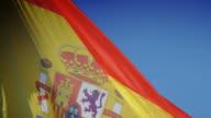 Spain flag. video
