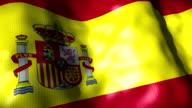 Spain Flag waving, looping video