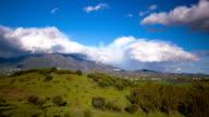 Spain landscape, clouds time lapse video