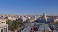 spain madrid city center roof top panorama 4k video