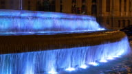 spain madrid night light plaza de la cibeles fountain 4k video