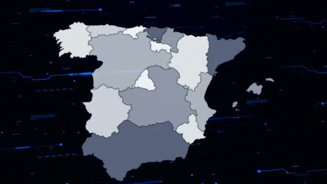 Spain network map video
