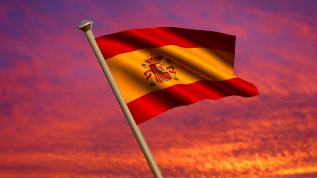 Spanish Flag Animation video