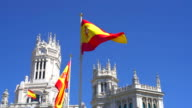 Spanish flags in Madrid video