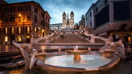 Spanish Steps, Rome, Italy - Time Lapse video