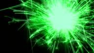 Sparkler changes colors - HD LOOP video