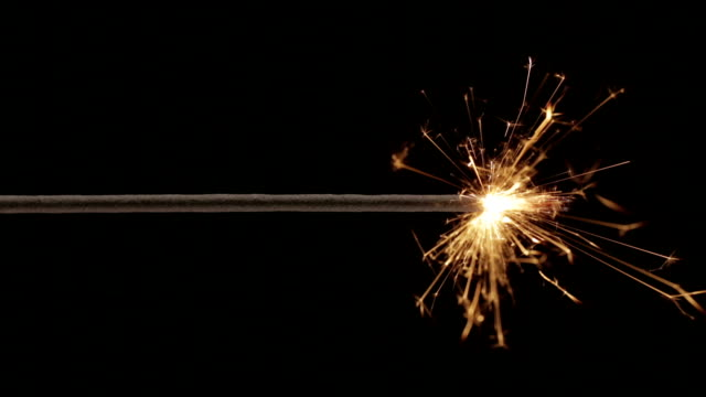 Sparkler Close Up HD video