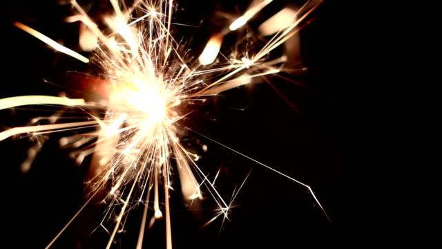 Sparkler close-up video