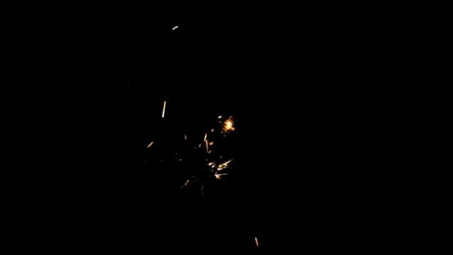 Sparkler Over Black (HD) video