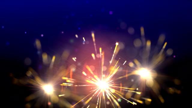 sparklers loop video