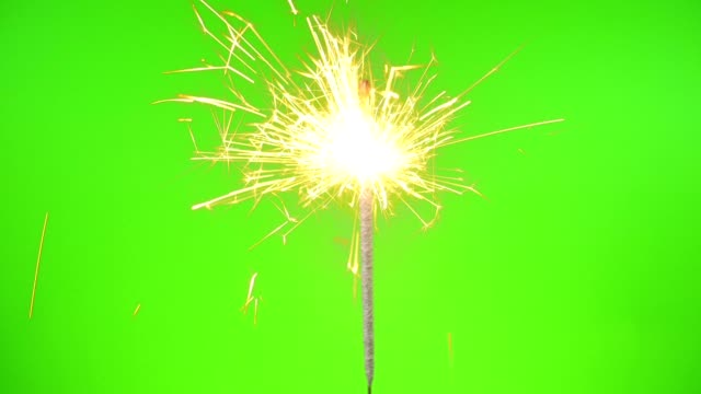 Sparklers on the Green Screen video