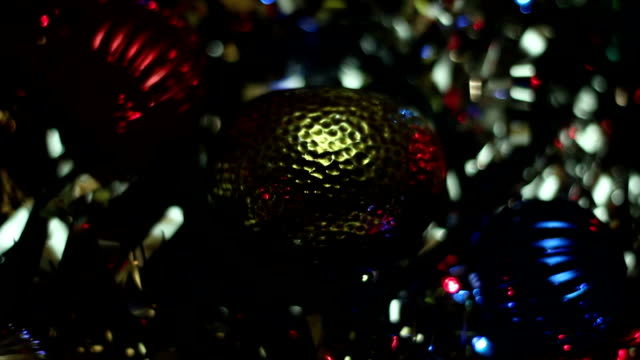 sparkling Christmas toys video